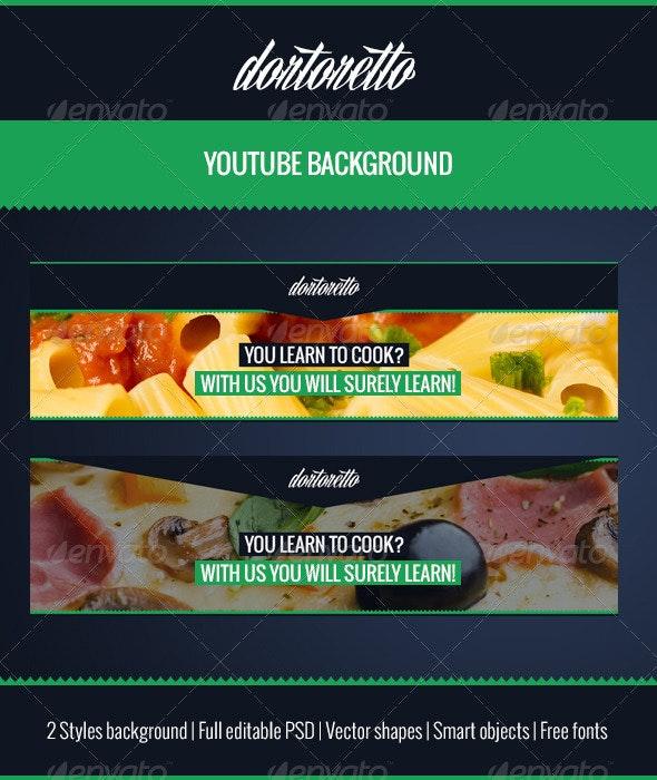 Dortoretto Youtube Background - YouTube Social Media