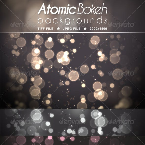 Atomic Bokeh Backgrounds
