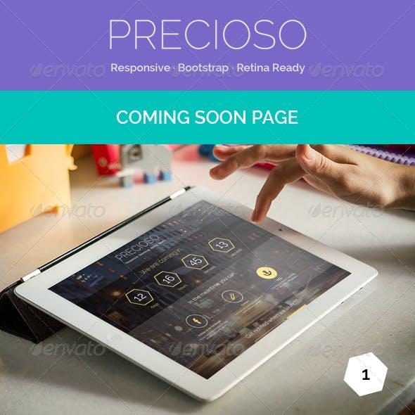 Precioso - Coming Soon Page