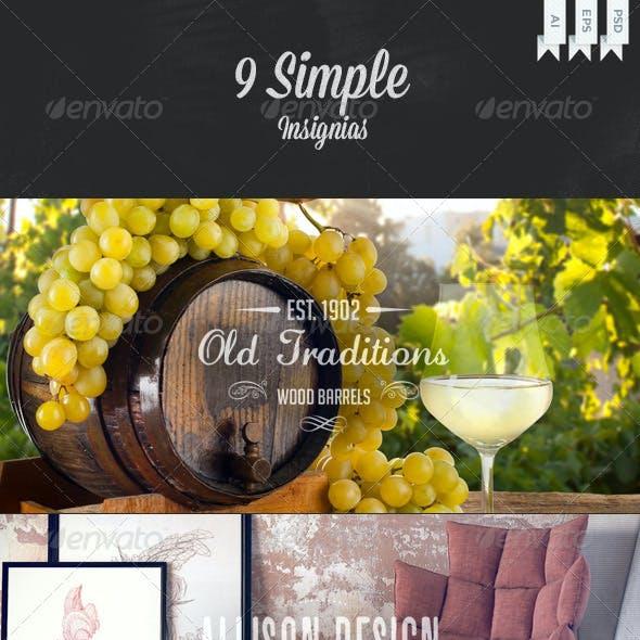 9 Simple Insignias