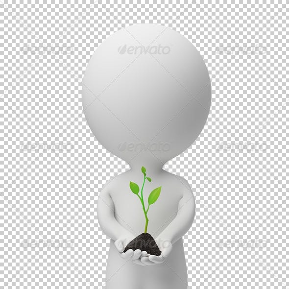 3d small people - fresh sprout