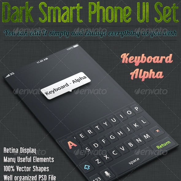 Dark Smart Phone UI Kit