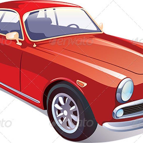 Red Classic Retro Car