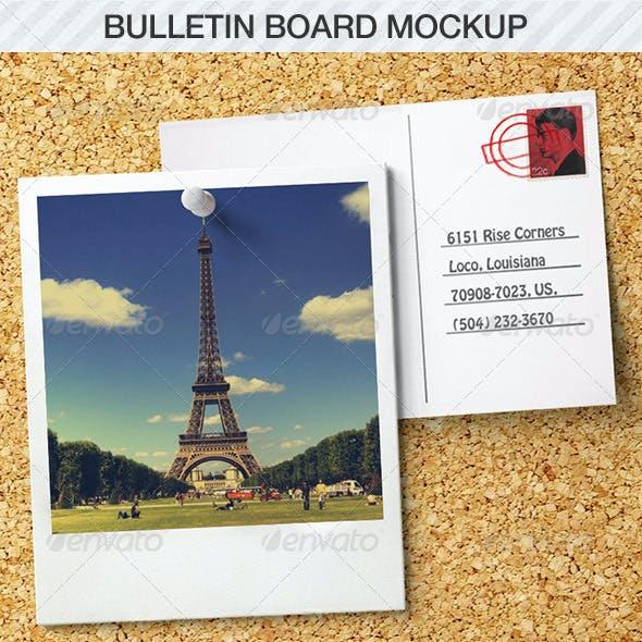 Bulletin Board Mockup
