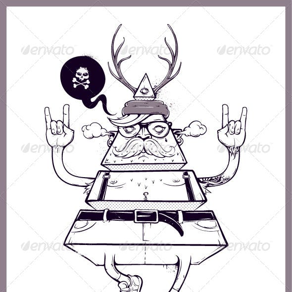 Hand Drawn Triangle Hipster