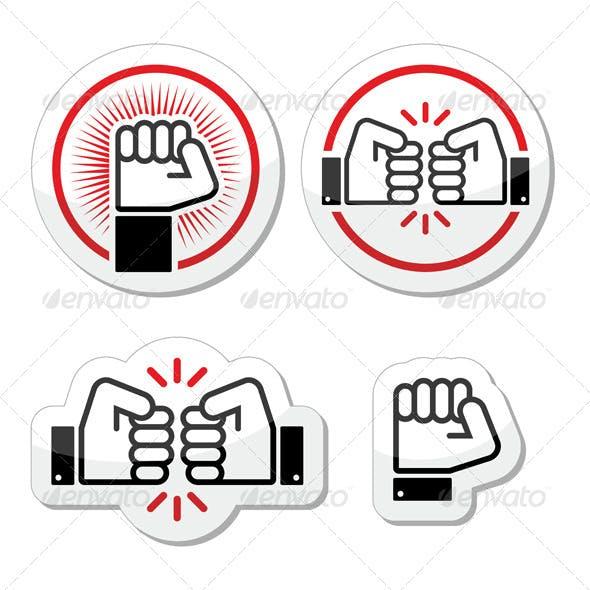 Fist Icons Set