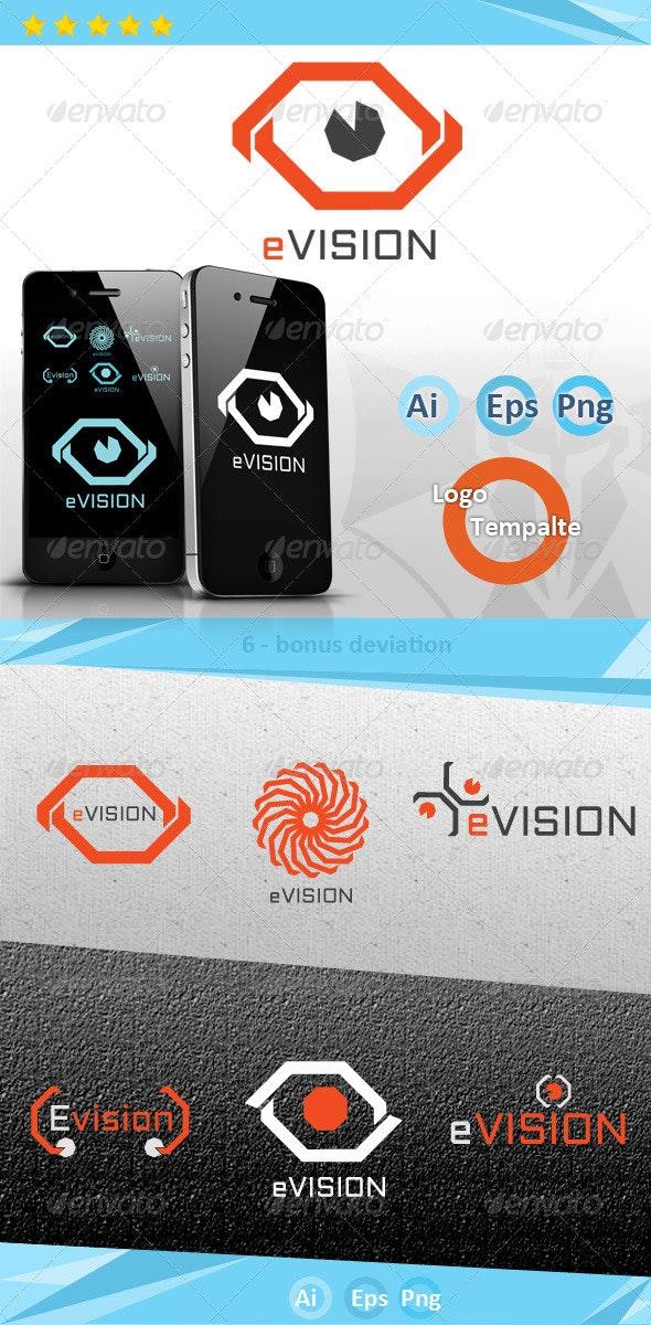eVision Logo - Vector Abstract