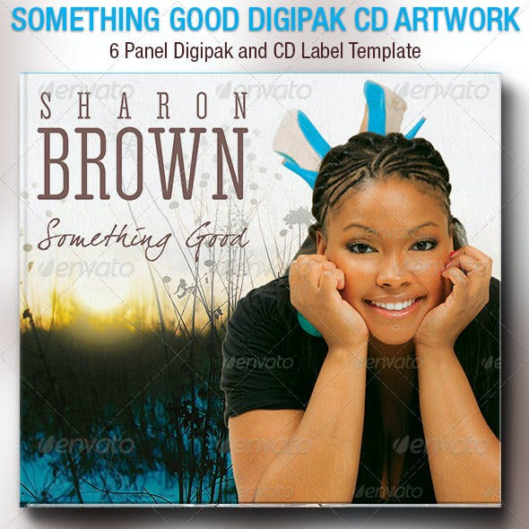 Something Good 6 Panel Digipak CD Artwork Template