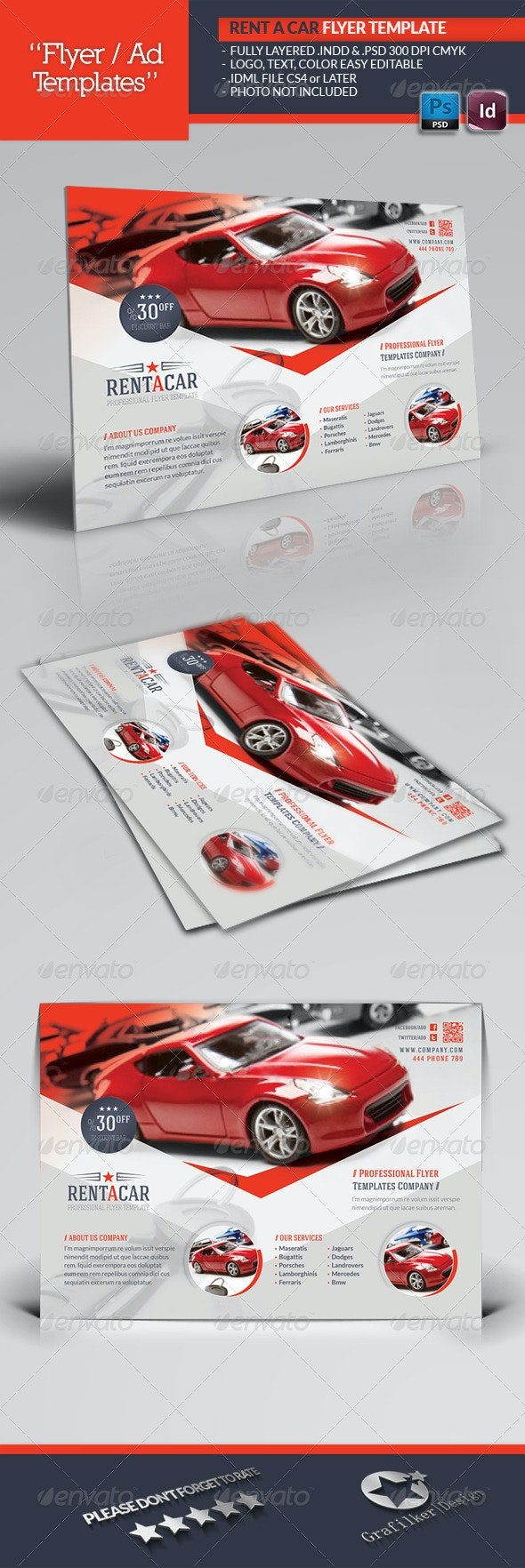Rent A Car Flyer Template - Corporate Flyers