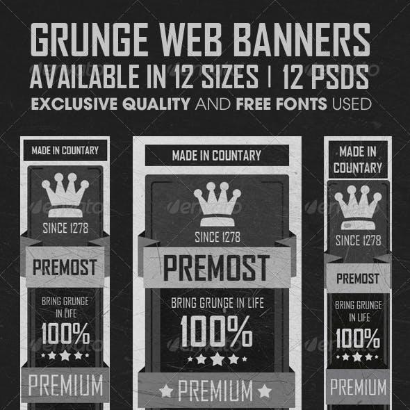 Grunge Web Banners
