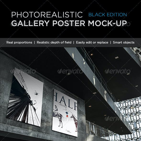 Photorealistic Gallery Poster Mock-Up Vol. 2