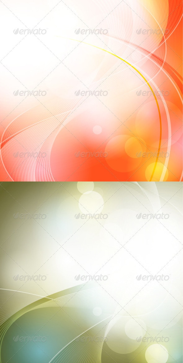 Abstract Glowing Background - Backgrounds Decorative