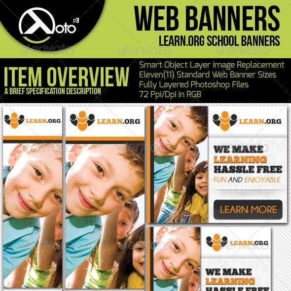Child Learning Web Banners