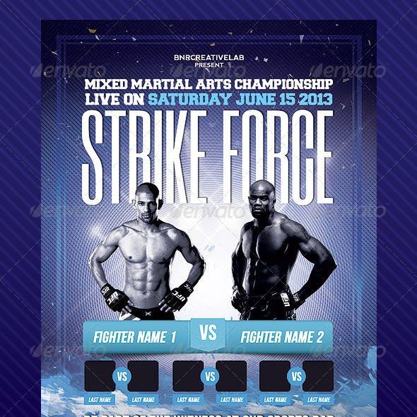 MMA Fight Event Promo Flyer