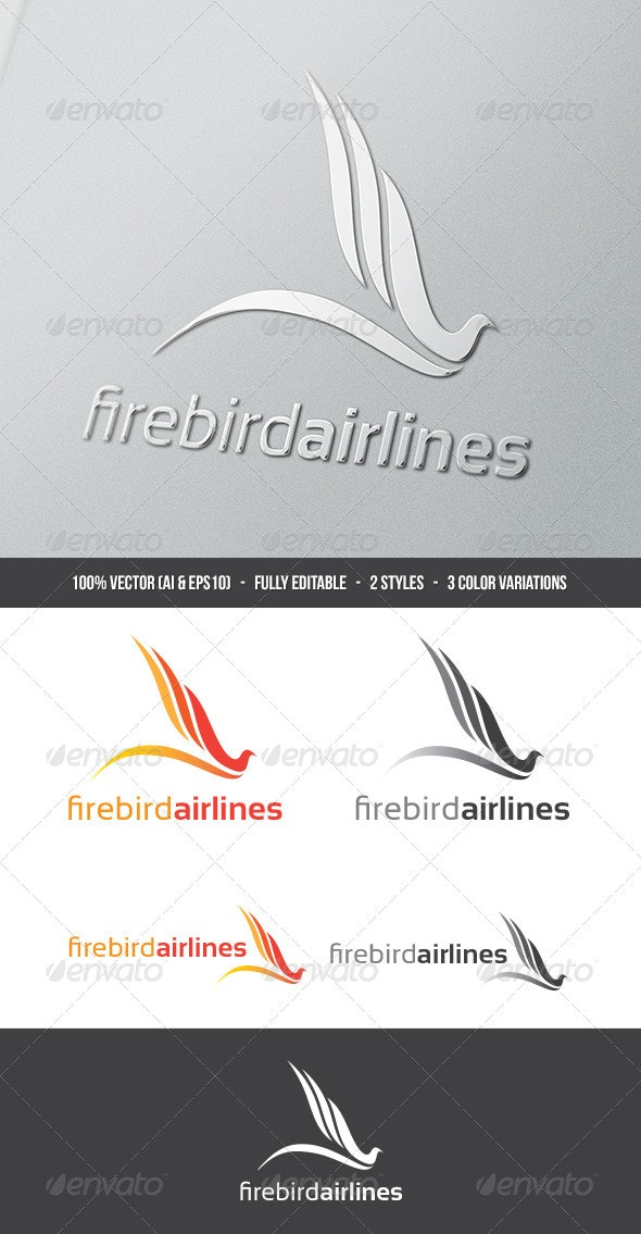 Firebird Airlines Logo - Animals Logo Templates