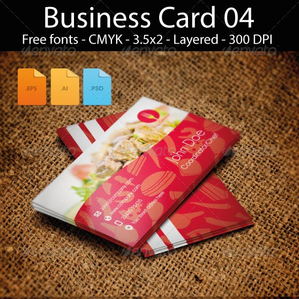 FoodService Business Card Design