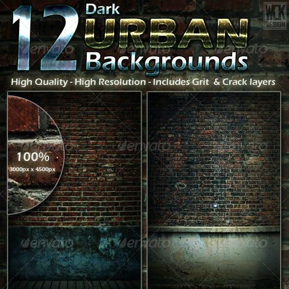 12 Dark Urban Backgrounds