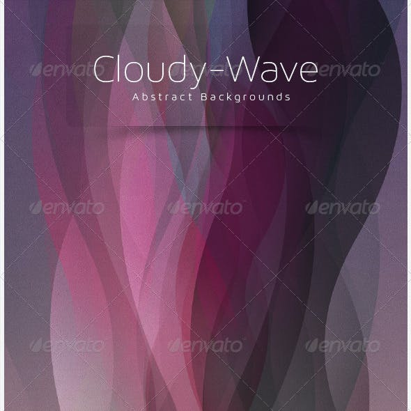Cloudy-wave Abstract Background