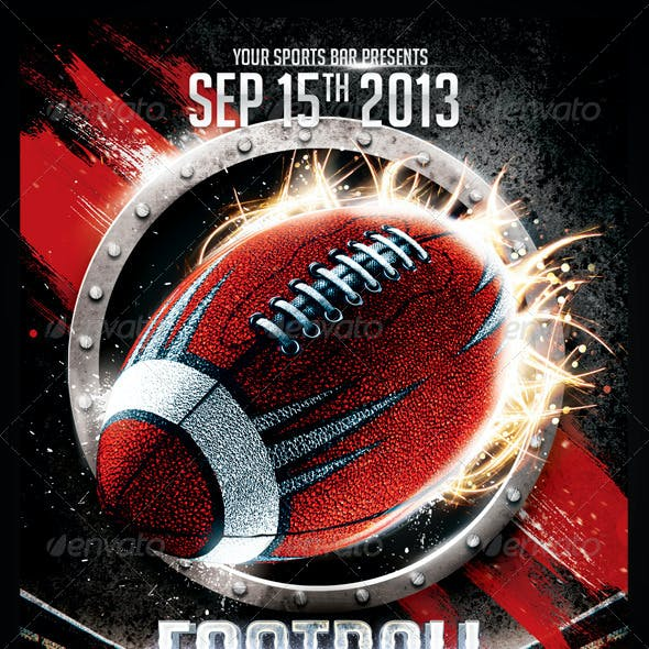 Football Frenzy Flyer Template