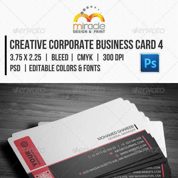 Creative Corporate Business Card 4