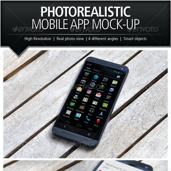 Photorealistic Mobile App Mock-Up