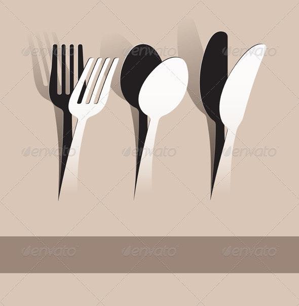 Paper Cut Silverware - Food Objects