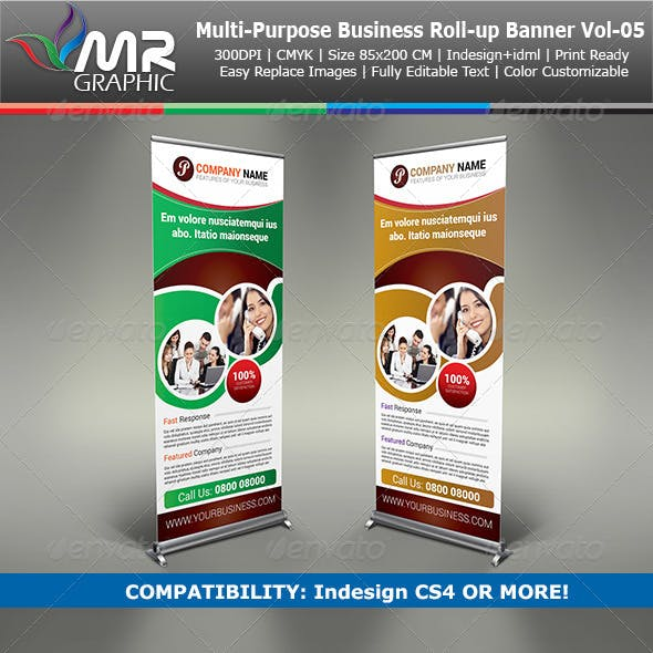 Multipurpose Business Roll-Up Banner Vol-05