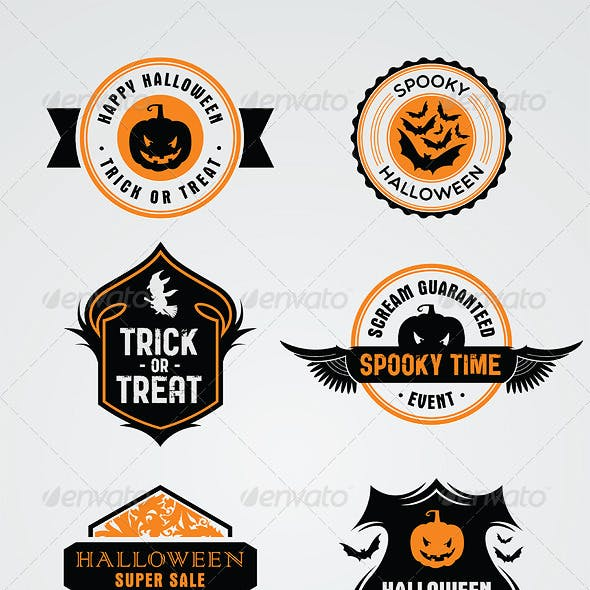 8 Halloween Stamps and Badges