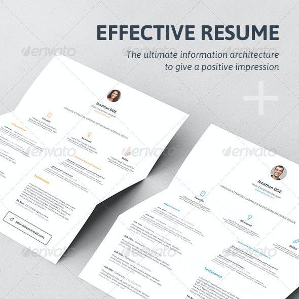 Effective Resume / CV