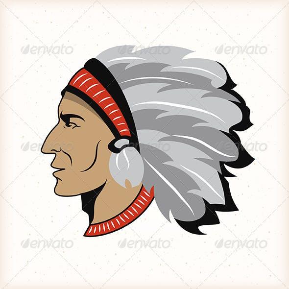 Indian Head Emblem