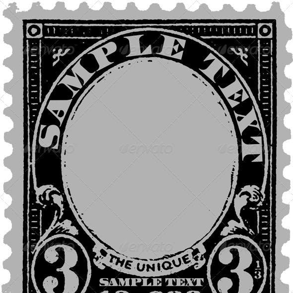 Black Old Postal Mark