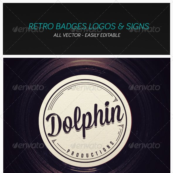 Modern Retro Badges Vintage Logos and Signs