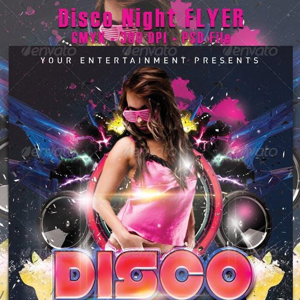 Disco Night Flyer