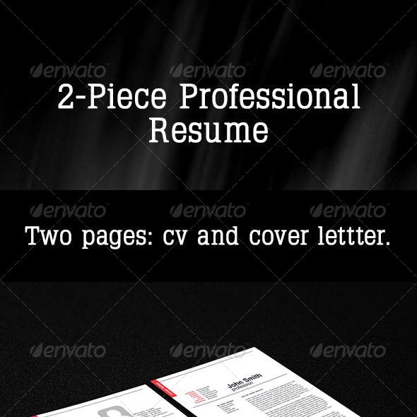 2-Piece Professional Resume