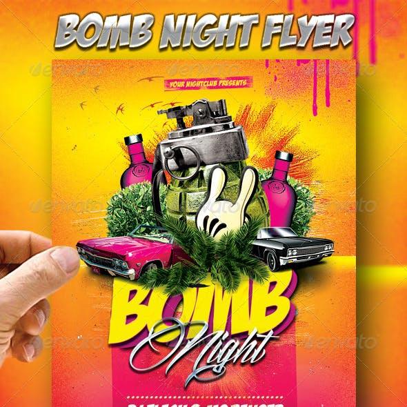 Bomb Night Flyer