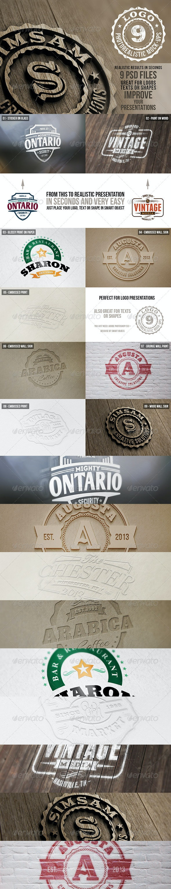 Photorealistic Logo Mock-Ups Vol.1  - Logo Product Mock-Ups