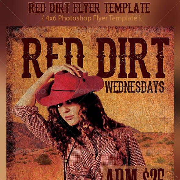 Red Dirt Flyer Template
