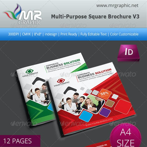 Multipurpose Square Brochure Template Vol-03
