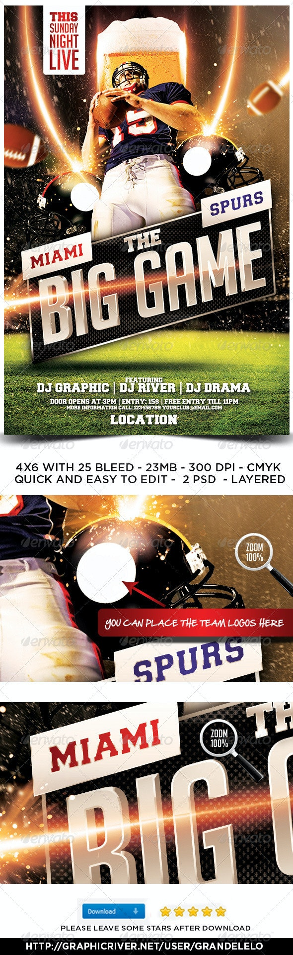 The Big Game Football Flyer 2.0 - Sports Events