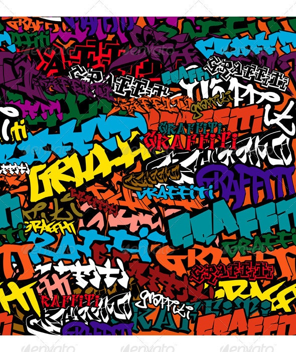 Graffiti Color Background - Abstract Conceptual