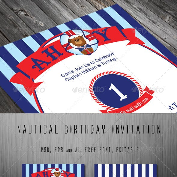 Teddy Nautical Invitation Template From GraphicRiver