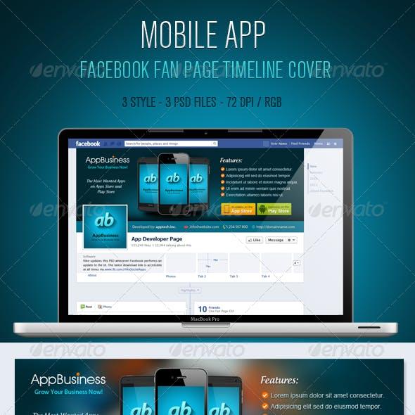 Mobile App Facebook Timeline Cover