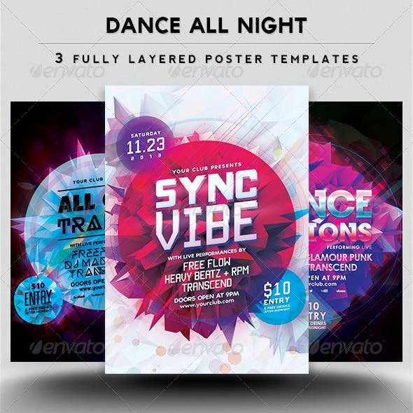 Dance All Night 3 Poster Pack