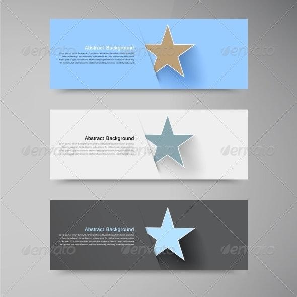 Vector Banner Background White Star