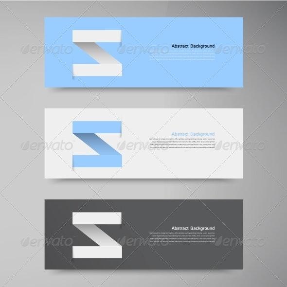 Vector Banner Design Template Label Arrow