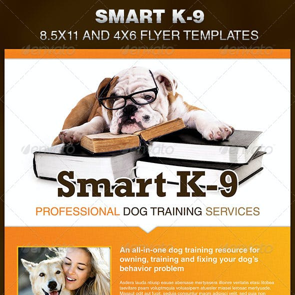 Smart K-9 Dog Training Flyer Template
