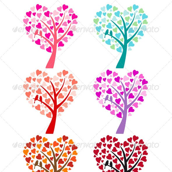 Heart Tree with Birds