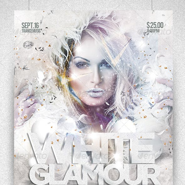 Flyer White Glamour Party