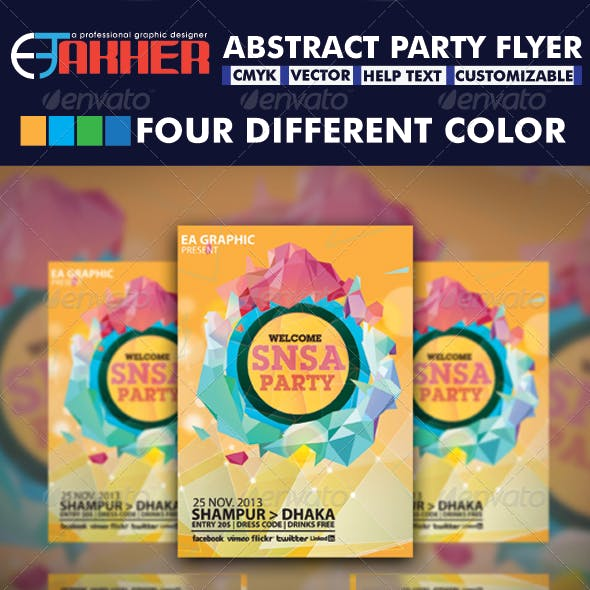 Abstract Party Flyer Graphics, Designs & Templates (Page 2)
