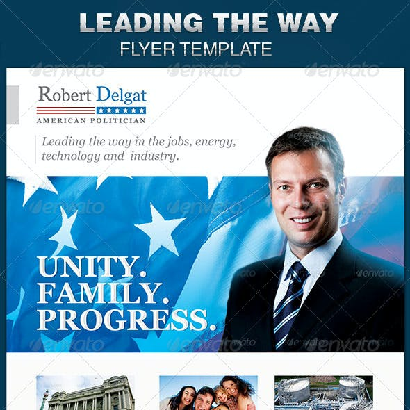 Leading the Way Political Flyer Template